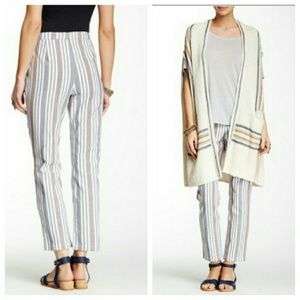 Free People Striped Cropped Pants